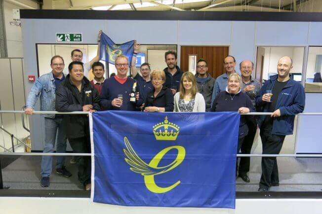 Metrasens' team celebrate Queen's Award win