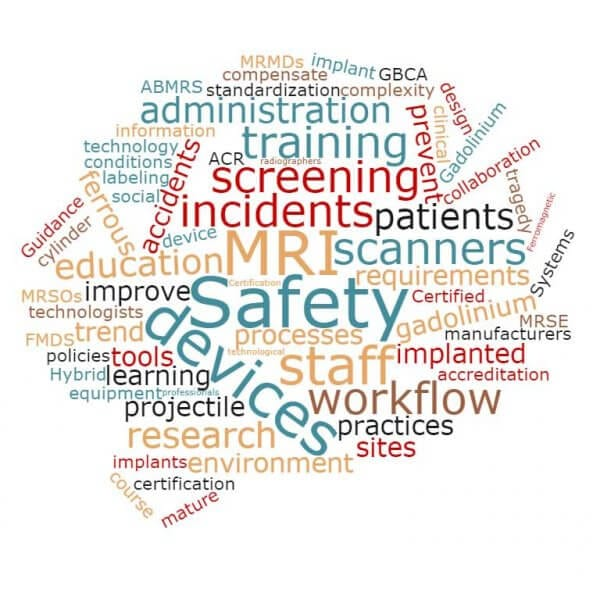 MRI Safety word cloud image