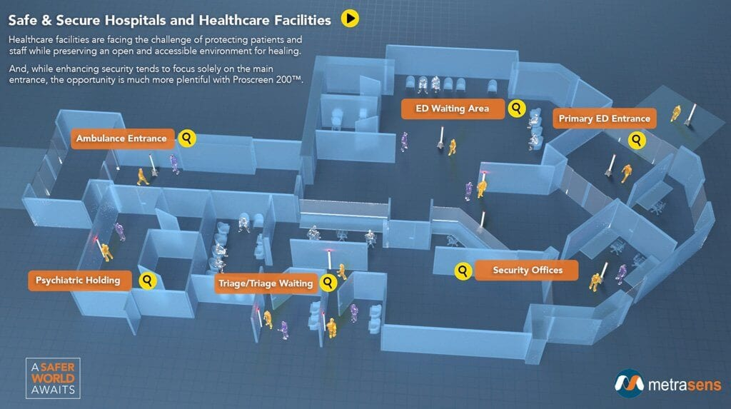 Interactive Healthcare Security Floorplan